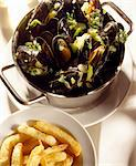 Mussels in white wine Stock Photo - Premium Rights-Managed, Artist: Photocuisine, Code: 825-05985612