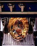 roast beef in caul in oven with potatoes and baby onions Stock Photo - Premium Rights-Managed, Artist: Photocuisine, Code: 825-05985658