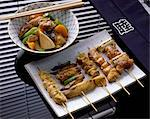 chicken yakitori Stock Photo - Premium Rights-Managed, Artist: Photocuisine, Code: 825-05985820