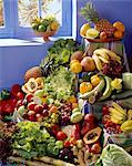 selection of fruit and vegetables Stock Photo - Premium Rights-Managed, Artist: Photocuisine, Code: 825-05985958