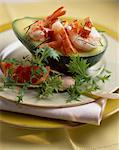 avocado with prawns Stock Photo - Premium Rights-Managed, Artist: Photocuisine, Code: 825-05985993
