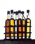 bottles of oil Stock Photo - Premium Rights-Managed, Artist: Photocuisine, Code: 825-05986015