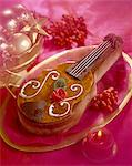 violin-shaped ice cream Stock Photo - Premium Rights-Managed, Artist: Photocuisine, Code: 825-05986201