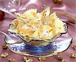 pasta bows with caviar and smoked salmon Stock Photo - Premium Rights-Managed, Artist: Photocuisine, Code: 825-05986351