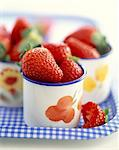 pots of fresh strawberries Stock Photo - Premium Rights-Managed, Artist: Photocuisine, Code: 825-05986379