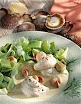 Fillet of sole and Petoncle scallops with leeks Stock Photo - Premium Rights-Managed, Artist: Photocuisine, Code: 825-05986458