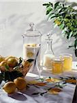 lemon liqueur and jam Stock Photo - Premium Rights-Managed, Artist: Photocuisine, Code: 825-05986462