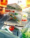 Club sandwich Stock Photo - Premium Rights-Managed, Artist: Photocuisine, Code: 825-05986471