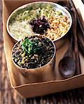 seaweed tartare and sprouting seeds Stock Photo - Premium Rights-Managed, Artist: Photocuisine, Code: 825-05986479