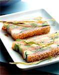 pressed smoked salmon and leeks Stock Photo - Premium Rights-Managed, Artist: Photocuisine, Code: 825-05986536
