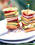 Stacked sandwiches Stock Photo - Premium Rights-Managed, Artist: Photocuisine, Code: 825-05986548