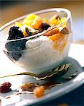 Faisselle cheese with dried fruit Stock Photo - Premium Rights-Managed, Artist: Photocuisine, Code: 825-05986584