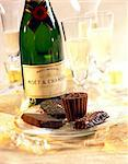 champagne and chocolates Stock Photo - Premium Rights-Managed, Artist: Photocuisine, Code: 825-05986692