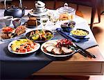 Brunch table Stock Photo - Premium Rights-Managed, Artist: Photocuisine, Code: 825-05986797