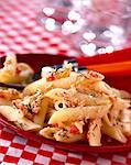 Penne pasta with potted fish Stock Photo - Premium Rights-Managed, Artist: Photocuisine, Code: 825-05986828