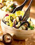 Cavatappi with cabbage and mushrooms Stock Photo - Premium Rights-Managed, Artist: Photocuisine, Code: 825-05986840