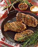 Grilled beefburgers with herbs Stock Photo - Premium Rights-Managed, Artist: Photocuisine, Code: 825-05986936