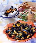 Mussels in white wine Stock Photo - Premium Rights-Managed, Artist: Photocuisine, Code: 825-05986941