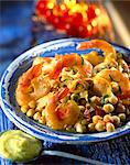 chickpeas with pan-fried gamba prawns Stock Photo - Premium Rights-Managed, Artist: Photocuisine, Code: 825-05986954