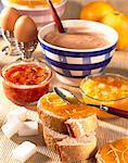 breakfast and jams Stock Photo - Premium Rights-Managed, Artist: Photocuisine, Code: 825-05986991