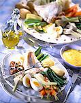 cod and poached vegetables aioli Stock Photo - Premium Rights-Managed, Artist: Photocuisine, Code: 825-05987005