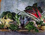 Still life of old-fashioned lettuces and vegetables Stock Photo - Premium Rights-Managed, Artist: Photocuisine, Code: 825-05987060