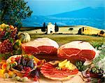 raw Italian hams Stock Photo - Premium Rights-Managed, Artist: Photocuisine, Code: 825-05987165