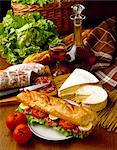 Baguette sandwich Stock Photo - Premium Rights-Managed, Artist: Photocuisine, Code: 825-05987205