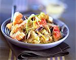 Mini seafood Sauerkraut with Muscadet Stock Photo - Premium Rights-Managed, Artist: Photocuisine, Code: 825-05987269