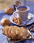 hazelnut and raisin bread for breakfast Stock Photo - Premium Rights-Managed, Artist: Photocuisine, Code: 825-05987622