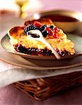 Semolina tart with summer fruit Stock Photo - Premium Rights-Managed, Artist: Photocuisine, Code: 825-05987692