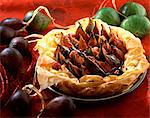 Filo pastry fig tart Stock Photo - Premium Rights-Managed, Artist: Photocuisine, Code: 825-05988110