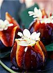 Roast figs with flower decoration Stock Photo - Premium Rights-Managed, Artist: Photocuisine, Code: 825-05988563