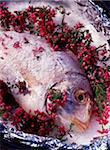 Jacket-baked sea bream with heather stock Stock Photo - Premium Rights-Managed, Artist: Photocuisine, Code: 825-05988566