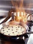 Flambed cherry omelette on stove Stock Photo - Premium Rights-Managed, Artist: Photocuisine, Code: 825-05988577
