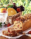 loaf fruit cake Stock Photo - Premium Rights-Managed, Artist: Photocuisine, Code: 825-05988605