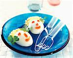 Funny face egg Mimosa Stock Photo - Premium Rights-Managed, Artist: Photocuisine, Code: 825-05988794