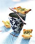 Matcha tea and pear mini tarts Stock Photo - Premium Rights-Managed, Artist: Photocuisine, Code: 825-05988888