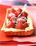 Strawberry and mascarpone tart Stock Photo - Premium Rights-Managed, Artist: Photocuisine, Code: 825-05988909