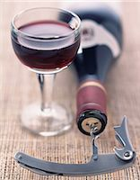 glass and bottle of red wine Stock Photo - Premium Rights-Managednull, Code: 825-05989072