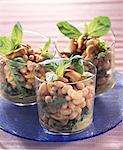 White bean, mussel and basil salad Stock Photo - Premium Rights-Managed, Artist: Photocuisine, Code: 825-05989094