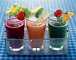 Glasses of fruit and vegatable smoothies Stock Photo - Premium Rights-Managed, Artist: Photocuisine, Code: 825-05989109