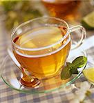 Glass cup of tea Stock Photo - Premium Rights-Managed, Artist: Photocuisine, Code: 825-05989410