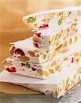 Slabs of nougat Stock Photo - Premium Rights-Managed, Artist: Photocuisine, Code: 825-05989525