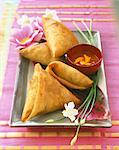 Samosas Stock Photo - Premium Rights-Managed, Artist: Photocuisine, Code: 825-05989865