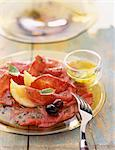 beef carpaccio Stock Photo - Premium Rights-Managed, Artist: Photocuisine, Code: 825-05990444