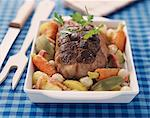 roast veal with vegetables Stock Photo - Premium Rights-Managed, Artist: Photocuisine, Code: 825-05990604