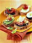 assorted bruschetta Stock Photo - Premium Rights-Managed, Artist: Photocuisine, Code: 825-05990642