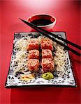 cubes of raw tuna with sesame seeds Stock Photo - Premium Rights-Managed, Artist: Photocuisine, Code: 825-05990867