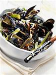 mussels with cream and saffron Stock Photo - Premium Rights-Managed, Artist: Photocuisine, Code: 825-05990907